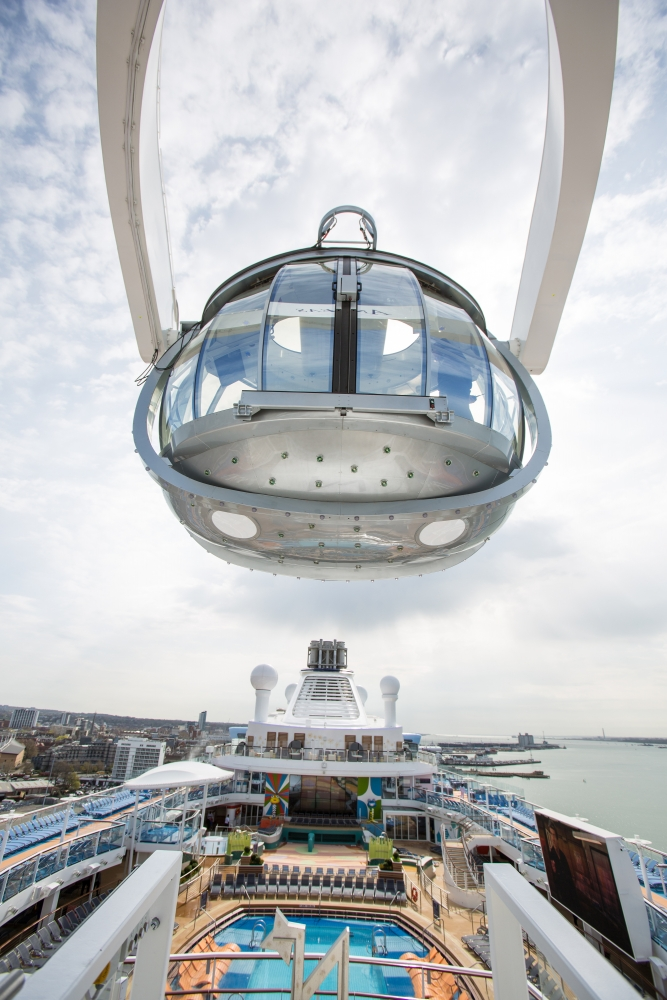 North star viewing pod, Anthem of the Seas