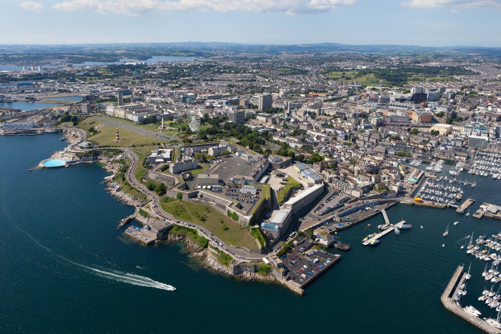 aerial vbiew of Plymouth