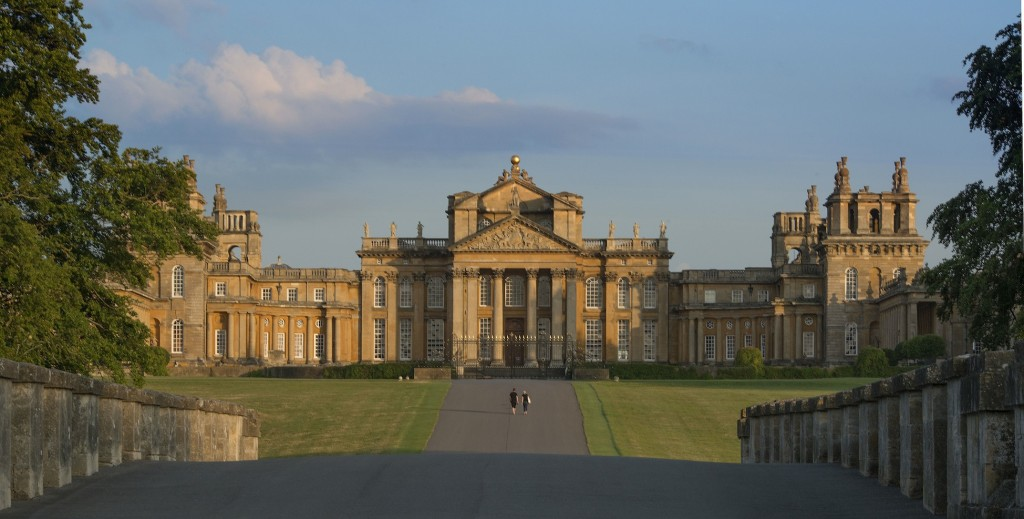 film tours at blenheim palace exterior shot of palace