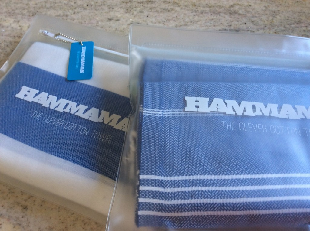 hammamas towels in waterproof bags