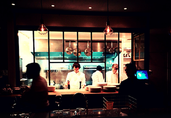 view of chefs at Caillebotte restaurant
