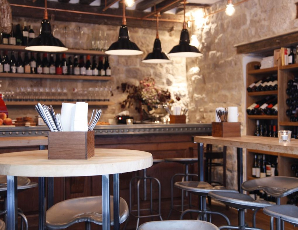 interior of Frenchie's wine bar