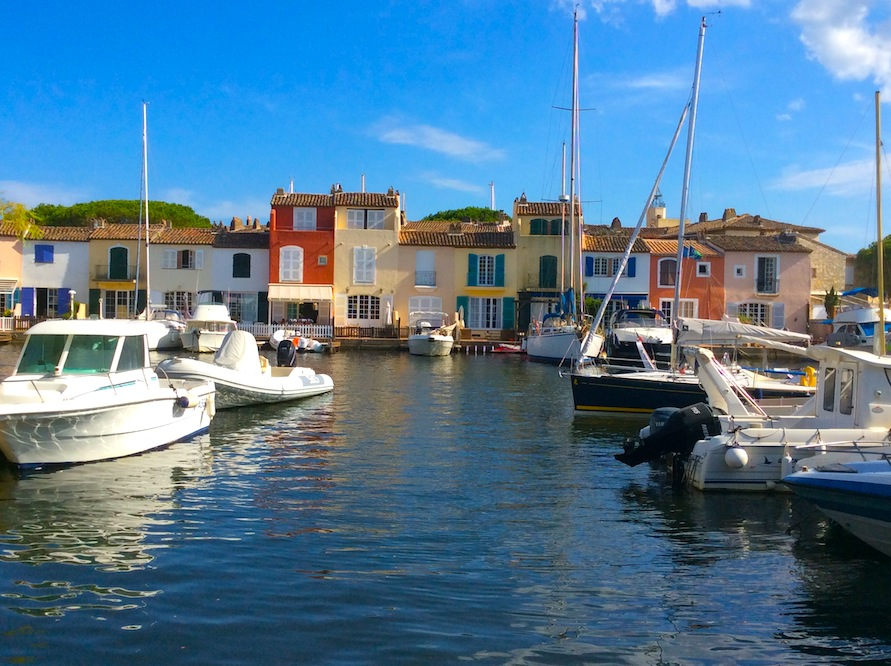 view of houses 'floating' on the canals at Port Grimaud