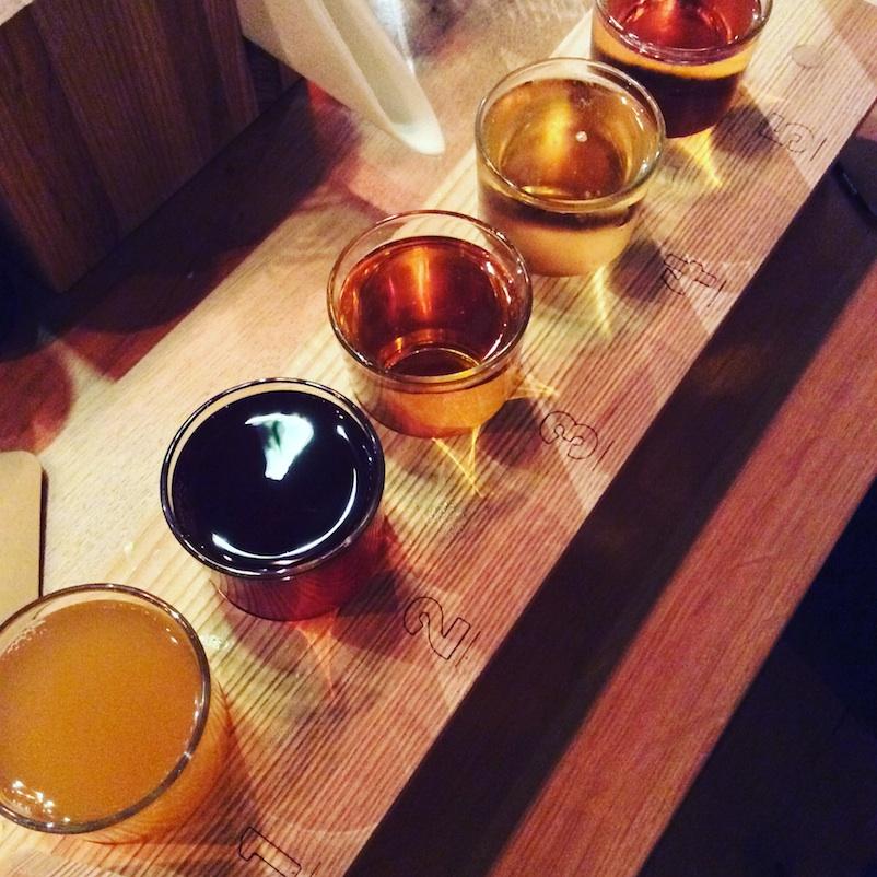 cider tasting board